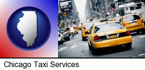 Chicago, Illinois - New York City taxis