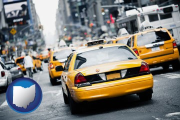 New York City taxis - with Ohio icon
