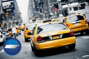New York City taxis - with Tennessee icon
