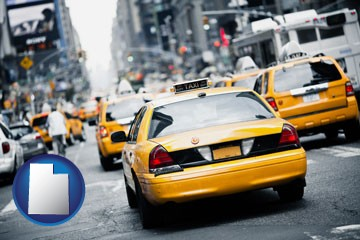 New York City taxis - with Utah icon